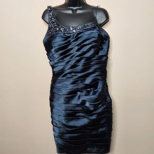 Adrianna Papell gathered beaded dress